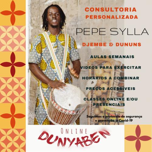 Consultoria personalizada djembes e dununs com o polivalente Pepe Sylla